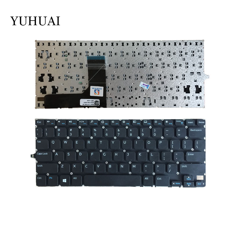 US laptop Keyboard FOR <font><b>DELL</b></font> Inspiron 11 3000 3147 11 3148 <font><b>P20T</b></font> 3158 7130 English Keyboard Black image