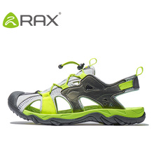 RAX Новинка 2016 года, летняя одежда Дышащие сандалии мужские уличные кроссовки пляжные Босоножки на платформе Мужская прогулочная обувь Человек sandalias mujer