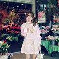 Japonés GA espectáculo diseño Macarons de conejo sudadera con capucha bow hollow out hermana suave dulce de la señora hoodies