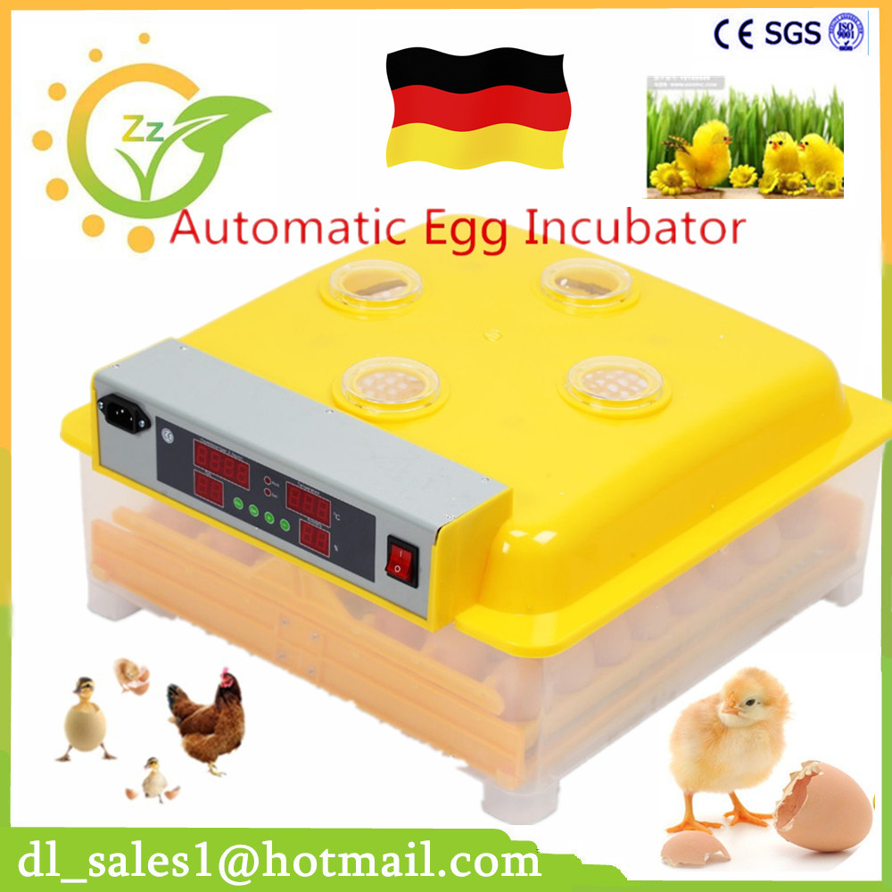 High Quality Automatic Egg-Turning Automatic 48 Egg Incubator Eggs LED Display Turning Time Temperature Alarm Hatchery Machine eggs roll steamed egg egg boiler stainless stee 220v high quality cooking appliances