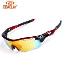 OBAOLAY 5 lens Polarized Cycling Sunglasses Sport Cycling Glasses Mens Mountain Bike Goggles UV400 Cycling Eyewear Bicycle Glass brand fashionable uv400 protection polarized cycling eyewear bike glasses cycling glasses sport glasses 3 lens free shipping