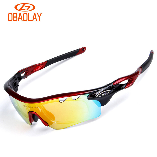 194f16f926 OBAOLAY 5 lens Polarized Cycling Sunglasses Sport Cycling Glasses Mens  Mountain Bike Goggles UV400 Cycling Eyewear Bicycle Glass