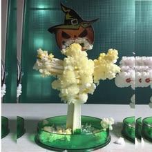 165 мм H желтый Волшебный растущий Хэллоуин тыквенные деревья Mystically бумага Хэллоуин Cushaw Дерево Набор Обучающие игрушки для детей