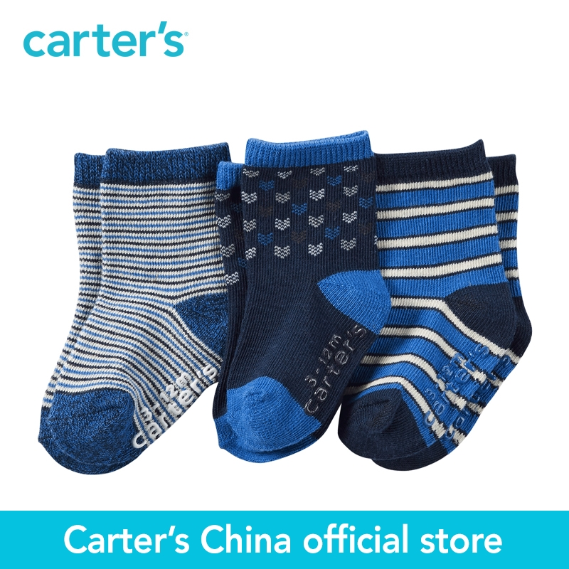 Carter's 3pcs baby children kids 3-Pack Socks GB14746,sold by Carter's China official store  carter s 1 pcs baby children kids long sleeve embroidered lace tee 253g688 sold by carter s china official store