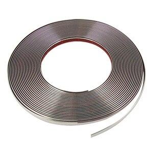 Image 2 - CARLOB bande de garniture autocollant pour décoration chromée de voiture, 5M, bricolage, 8mm / 10mm / 15mm / 20mm / 22mm / 25mm / 30mm
