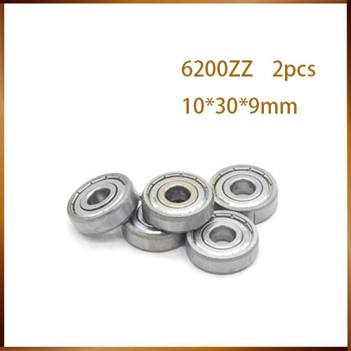 6200zz High Temperature Bearing 6200ZZ 6201ZZ 6202ZZ 6203ZZ 6204ZZ 6205ZZ ( 2 Pcs) 500 Degrees Celsius Full Ball Bearing image