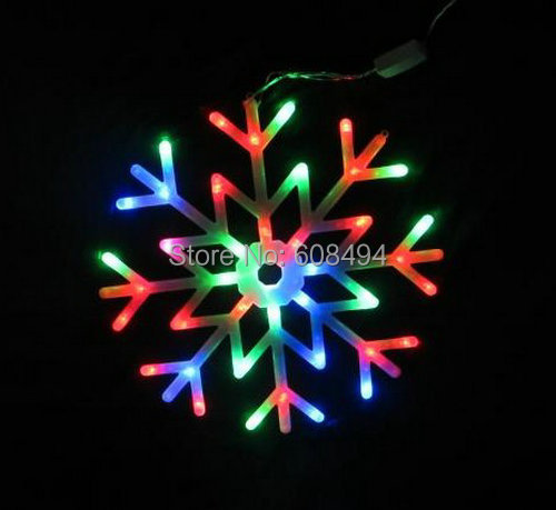 Led snowflakes fairy string light snow flake rope