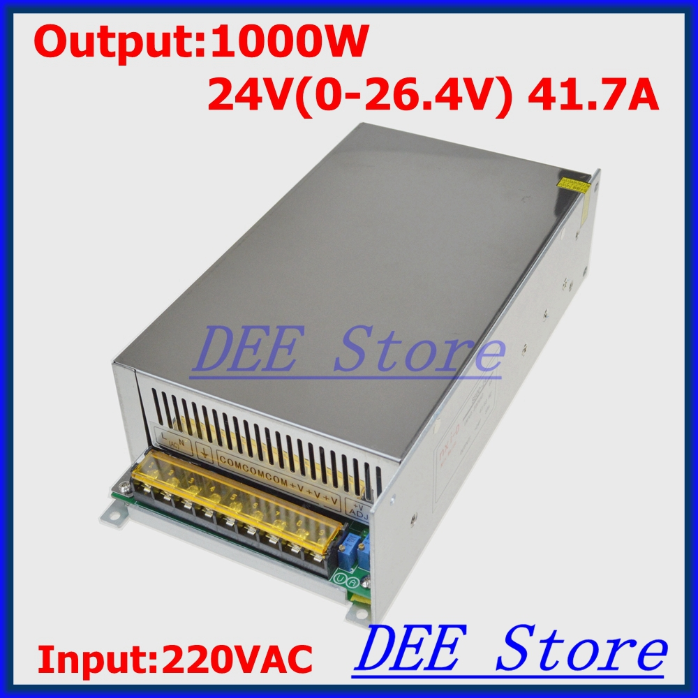 Led driver 1000W 24V(0-26.4V) 41.7A Output Transformer Adjustable ac 220v to dc 48v Switching power supply for LED Strip light стоимость
