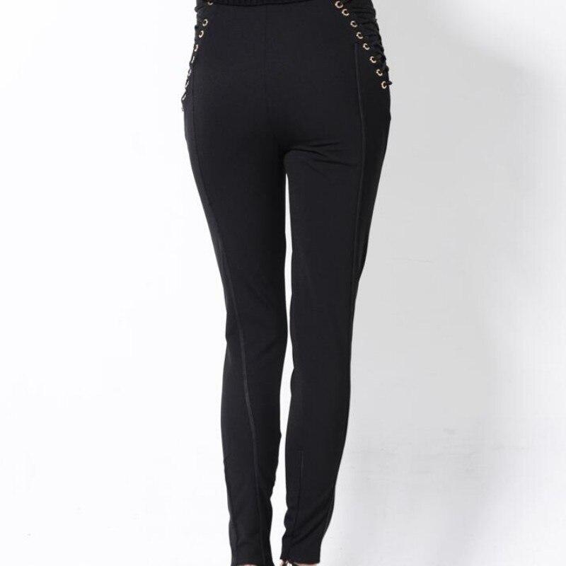 Top printemps nouveau pantalon à lacets design taille haute femmes pantalons crayon pantalons femme pantalons femmes femmes Calcas Femininas