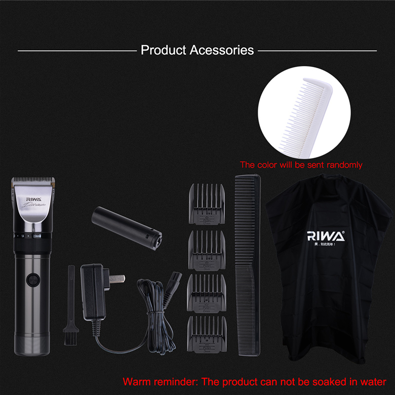 Image 4 - RIWA Professional Hair Trimmer X9 With Original Packaging Ceramic Blade Cutting Machine For Barber Lithium Battery Hair Cutter-in Hair Trimmers from Home Appliances
