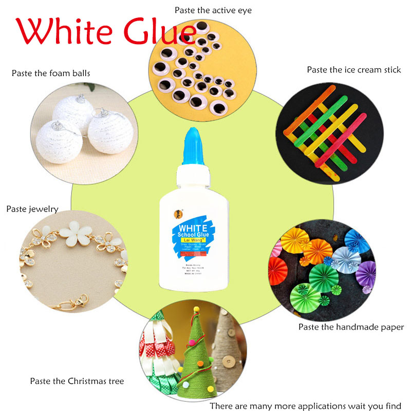 1 Pcs Liquid Hobby Craft Super White Glue Cleanable Adhesive  Strong Bond Paper Wood Jewelry Plastic For   School Office Tool