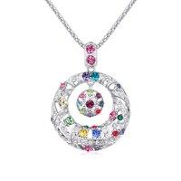 Vòng tròn vòng Cổ Lớn Pendant Xích Long Với Phụ Nữ Jewelry Với Pha Lê Áo Nữ Áo Len Chain Bohemian Necklace 3 Colors