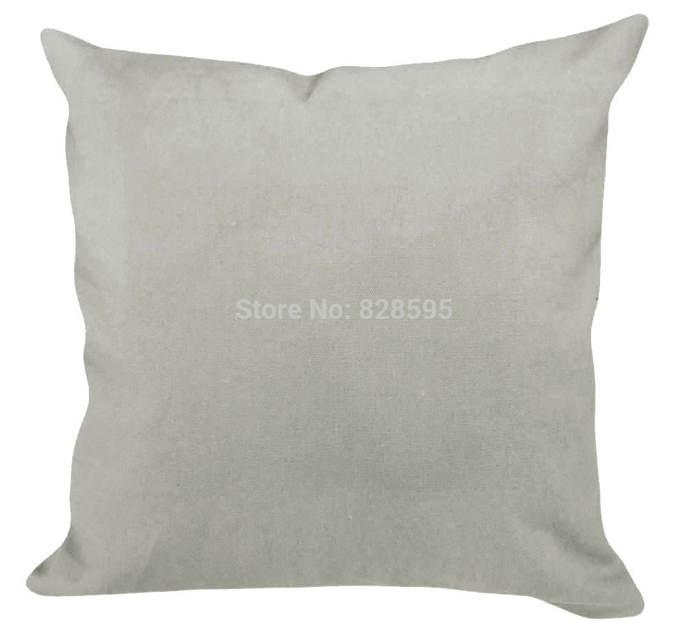 Ea149 16 X 16 40 X 40cm Plain Light Gray Cotton Canvas