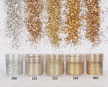 5Pcs 10ml sliver gold color glitter Powder, fine for jewelry diy silicone,Nail Glitter Powder shiny For nail art