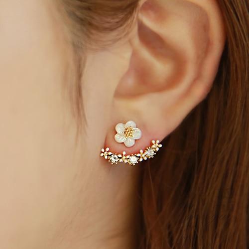 Promotion vente chaude mode fleur design 30% argent plaqué dames 'stud boucles d'oreilles bijoux cadeau anti-allergique livraison directe