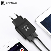 цена на Cafele EU Plug USB Charger DC 5V 4.8A 24W Universal Portable Travel Wall Charger Adapter Mobile Phone Charger for iPhone Laptop