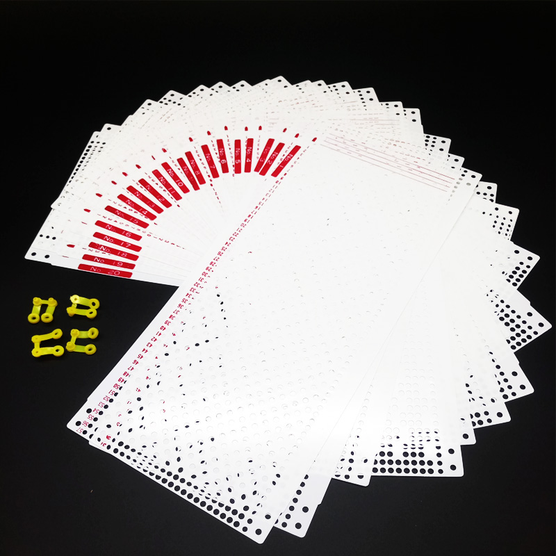 20sheets 24Stitch Pre Punch Card +4 Clips For Silver Reed Brother Knitting Machine SK280 KH860 KH940 DIY Sweater Craft Accessory