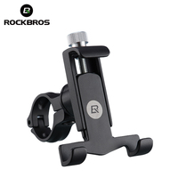 ROCKBROS Bicycle Phone Holder For 3.5 6.2 Inch Cell Phone Aluminum Alloy Mobile Phone Support With Mount Stand Fix In Handlebar
