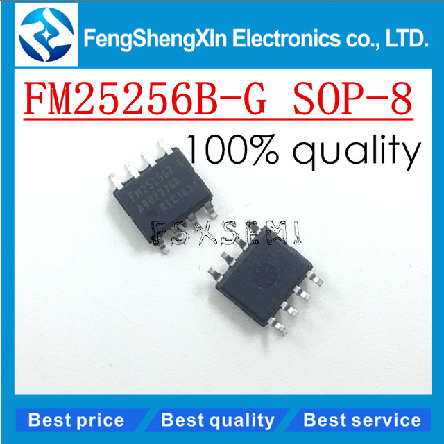 10ピース/ロット新しいFM25256BG FM25256B G sop 8キロバイトframシリアル5ボルトメモリicチップ