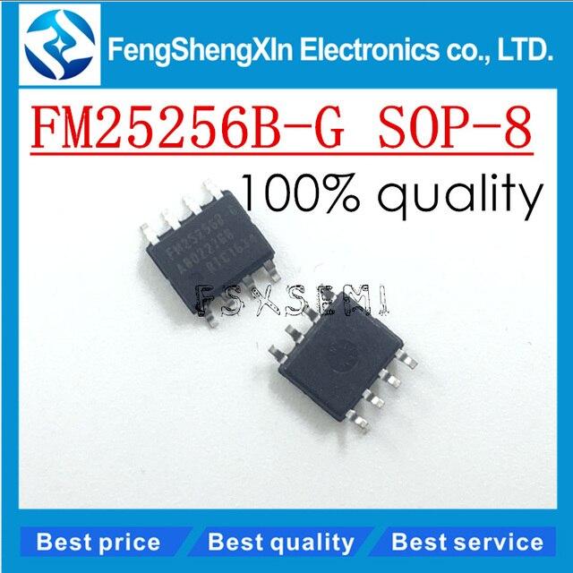 10pcs/lot New FM25256BG FM25256B G SOP 8 256Kb FRAM Serial 5V Memory  IC  chip