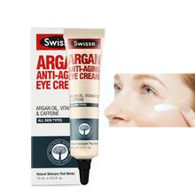 Swisse Argan Anti Aging Eye Cream 15ml coffee bean extract under eyes dark circle remover vitamin K2 eliminate puffiness