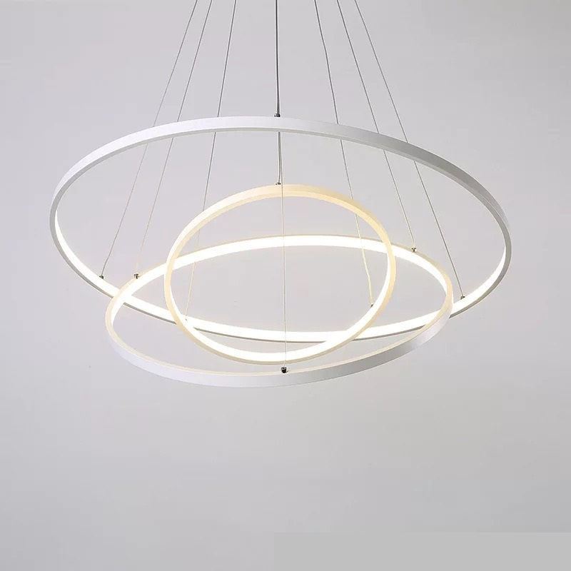 Free Shipping 35W 60W 110W 3000K Warmwhite 400/600/800mm LED Personality ring lamp LED Pendant Lights
