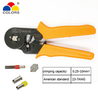 COLORS HSC8 10S Wire Crimping Pliers For Tube Type Needle Type Terminal Crimp Self Adjusting Capacity