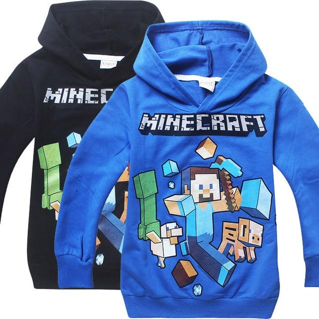 best website f68c3 e2a5c US $10.69 10% OFF|Kinder Schwarz Pullover Baumwolle Sweatshirt Minecraft  Muster Kinder Kleidung Hoodie Geschenk Für Jungen in Kinder Schwarz  Pullover ...