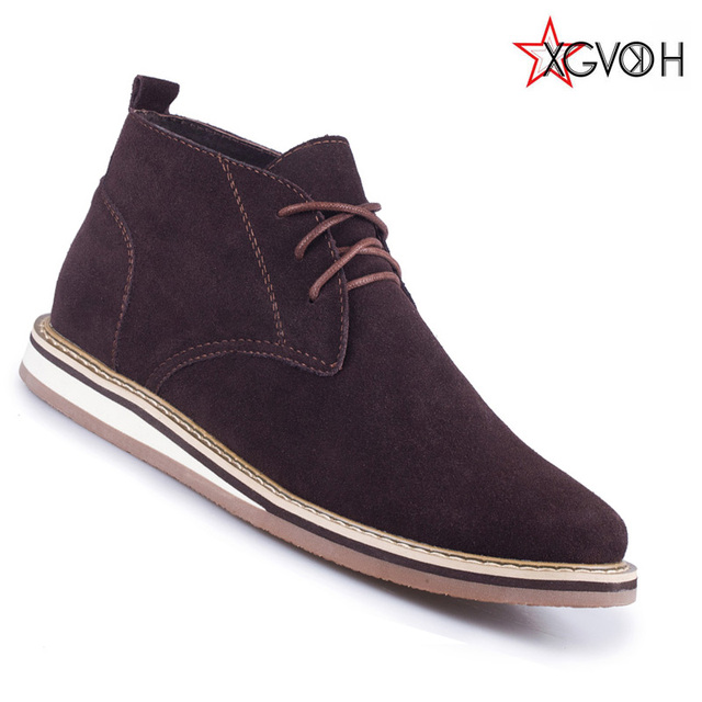 Handmade men boots Genuine leather winter autumn Mens shoes Flat with fashion Casual boots Lace Up Outdoor Work boots 1213
