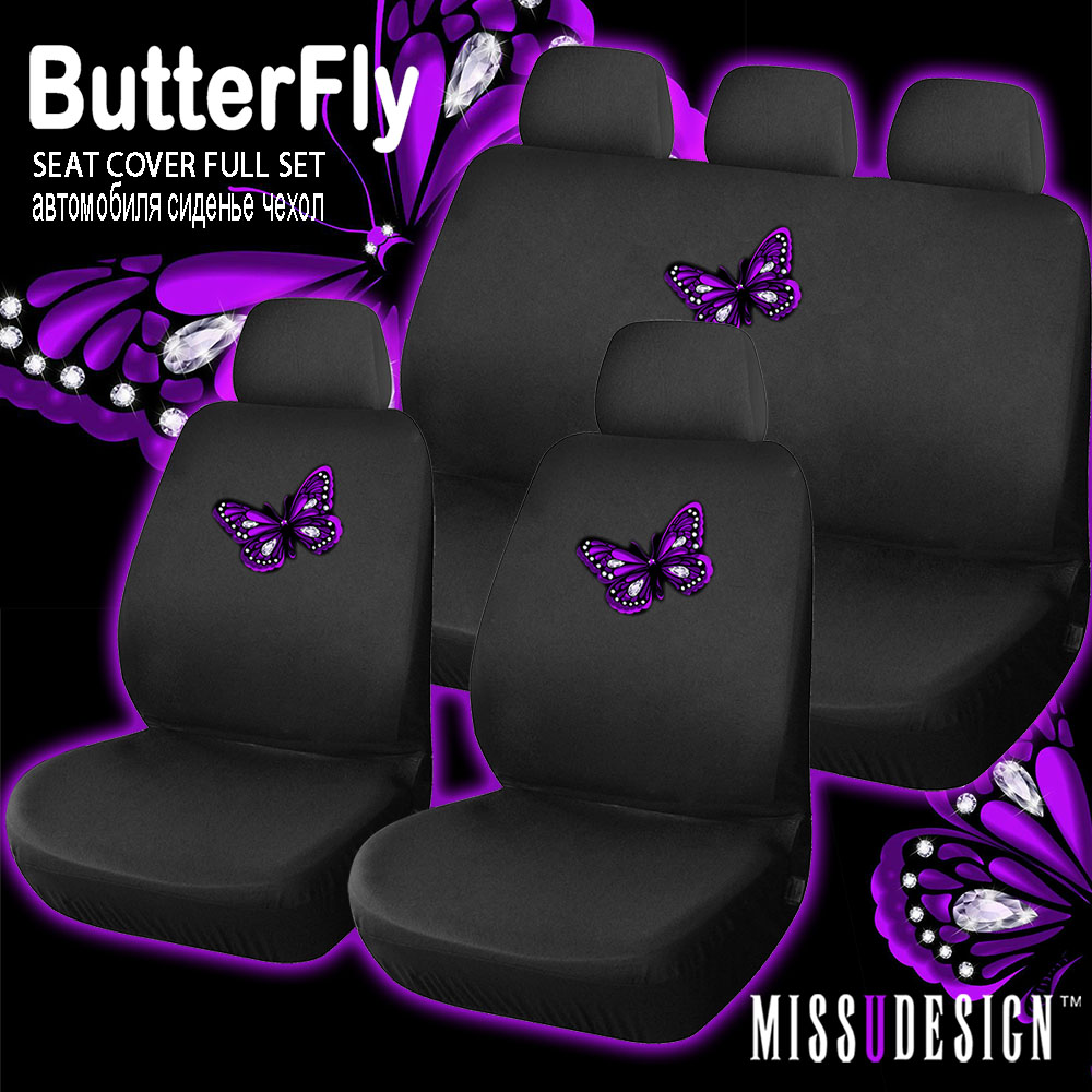 F8B Fantastic Butterfly Printing Universal Full Set Car Auto Interior Accessories Seat Cover In Automobiles Covers From Motorcycles