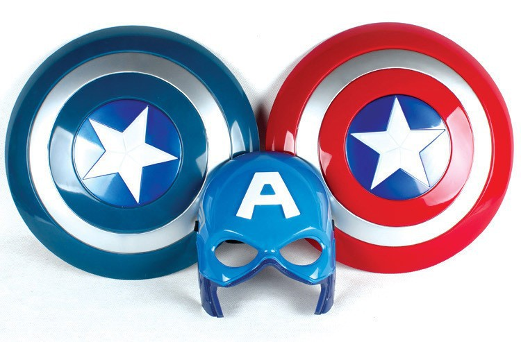[Funny] The Avengers 2 America Captain 32CM luminous light Sound Shield + Mask imitate Cosplay property Toy kids costume party[Funny] The Avengers 2 America Captain 32CM luminous light Sound Shield + Mask imitate Cosplay property Toy kids costume party