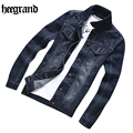 HEE GRAND Men Denim Jacket Casual Men Slim Fit Brand Men Denim Coat Hight Qulity Jacket Men Plus Size Denim Jacket MWJ2233