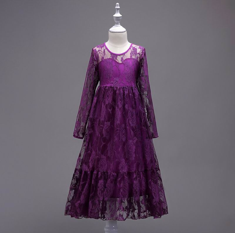 Wholesale Teenage Girl Dresses Lace Long Sleeve Princess Dress For Party Wedding Evening Children Clothing 4