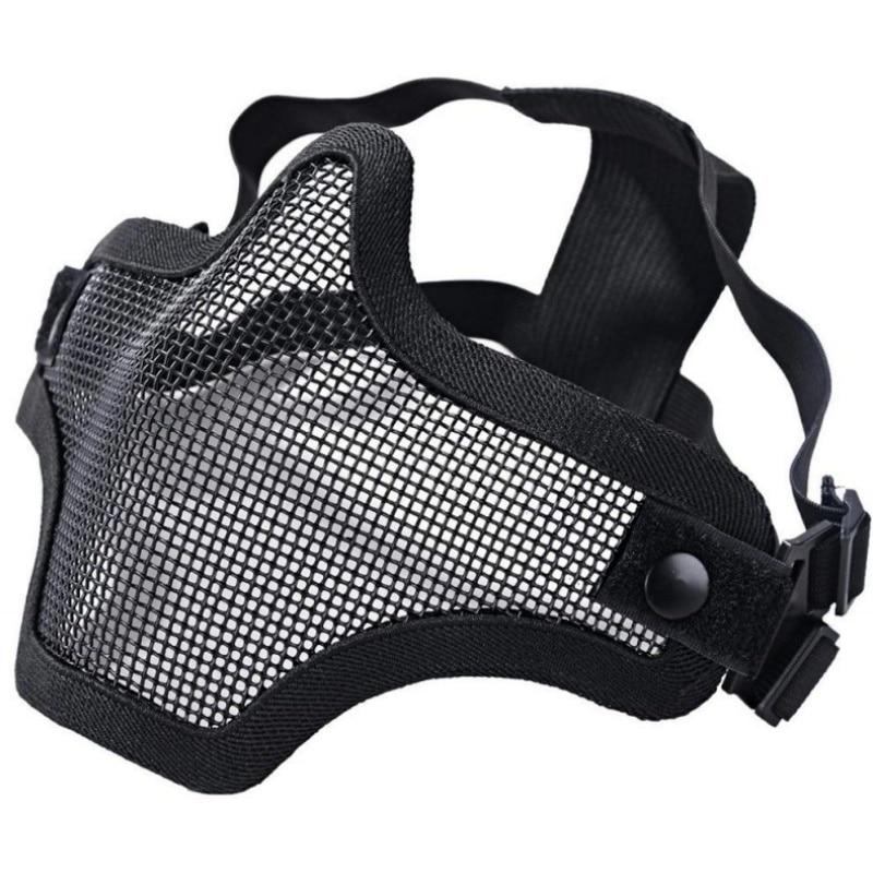 V1 Skull Paintball Mask Black Tactical Mask Military Army CS Wargame Hunting Protective Mesh Half Face Airsoft Masks