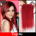 Women Hair Extensions Wine Red High Temperture Long Natural Straight Fiber Synthetic Hair 5 Clips In Hairpiece Woman Hairs Piece