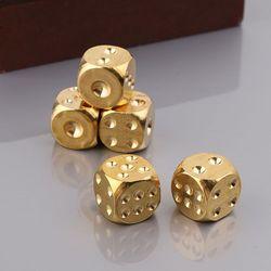 Dado de latón pulido sólido, 20mm, cubo de Metal, cobre, dado de entretenimiento Digital, Bar de póquer, juego de mesa, regalo, 1 ud.