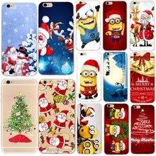 Karikatür Noel Baba Geyik Kapak Için Kılıf iphone 6 6s Merry Christmas Silikon Yumuşak Komik Telefonu Çanta iphone 5 5s se 7 8 a...