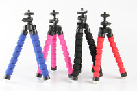 10pcs Red Black Blue Flexible Mini Tripod Portable Octopus Stand Mount Bracket Holder Monopod For Mobile