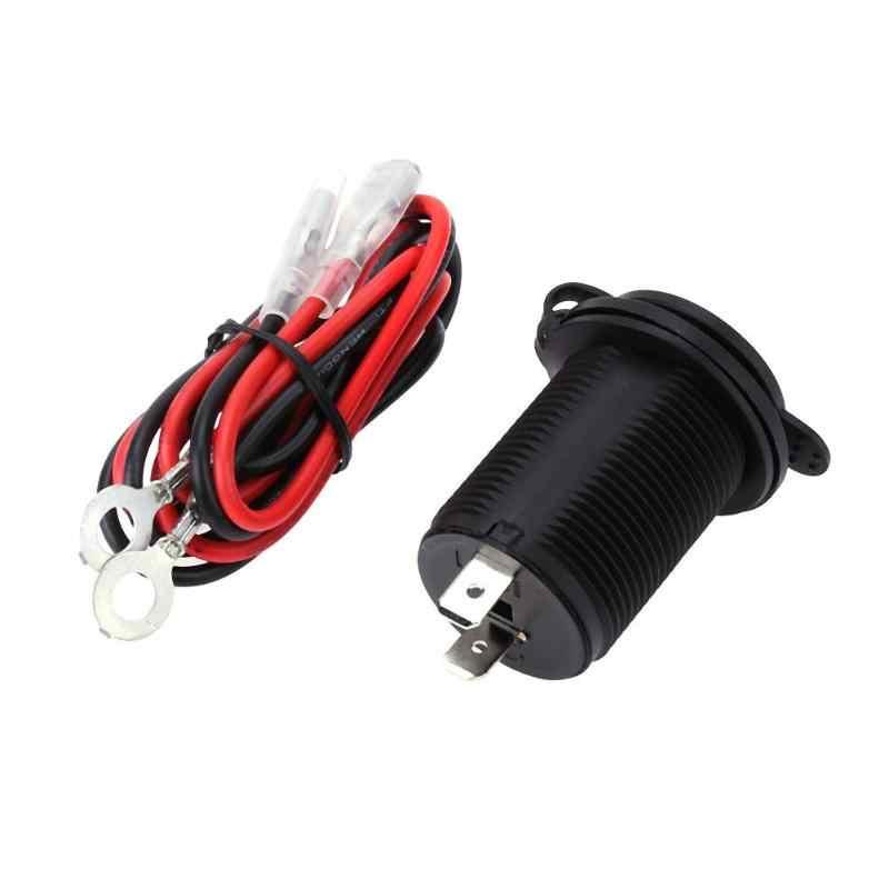 Hot Sale 12 V/24 V Motor Listrik + Motor Dipasang Charger Tahan Air Dual USB Charger untuk ponsel GPS MP3