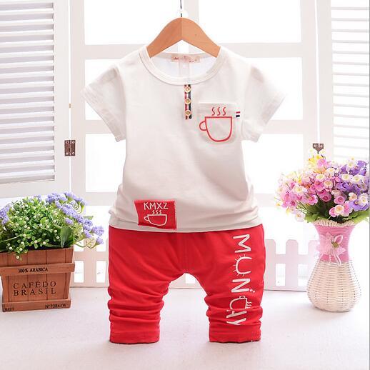 2017 enfants bébé été tenue ensemble enfant en bas âge enfants vêtements ensemble survêtement vêtements ensemble t-shirt + short