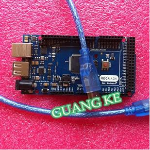 10set=10pcs ADK Mega 2560 2012 ARM Version Main Control Board + 1pcs USB cable, Compatible with (Google ADK 2012) for Arduino