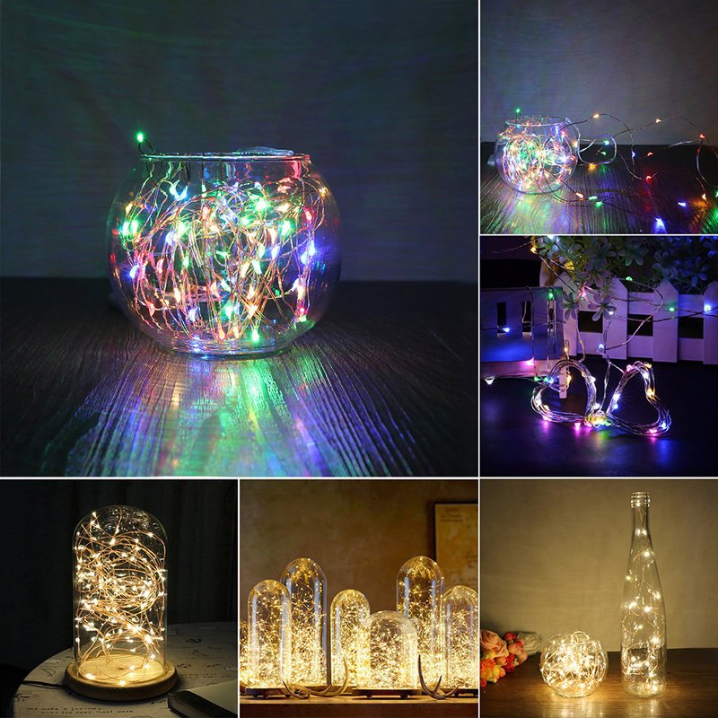 5M 50 LED Garland 3XAA Flasher Christmas Battery Operated LED String Lights for Xmas Party Wedding Decoration Fairy Lights light string battery 1m 2m 5m 10m led string lights for xmas garland party wedding decoration christmas tree flasher fairy light