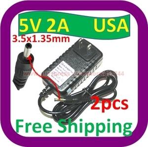 2 шт. Бесплатная доставка ARCHOS ARNOVA 10 G2 4 ГБ ANDROID TABLET 5V 2A 2 PIN США сетевой адаптер/зарядное устройство