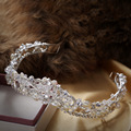 2016 New Silver Bridal Tiaras Crowns Crystal Rhinestone Pageant Bridal Wedding Accessories Headpiece Headband Wedding Tiara