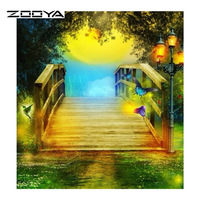 Diamond Painting 5D Square Complete Drill Painting Landscape Diamond Cross Stitch Crystal Square Diamond Sets Unfinished
