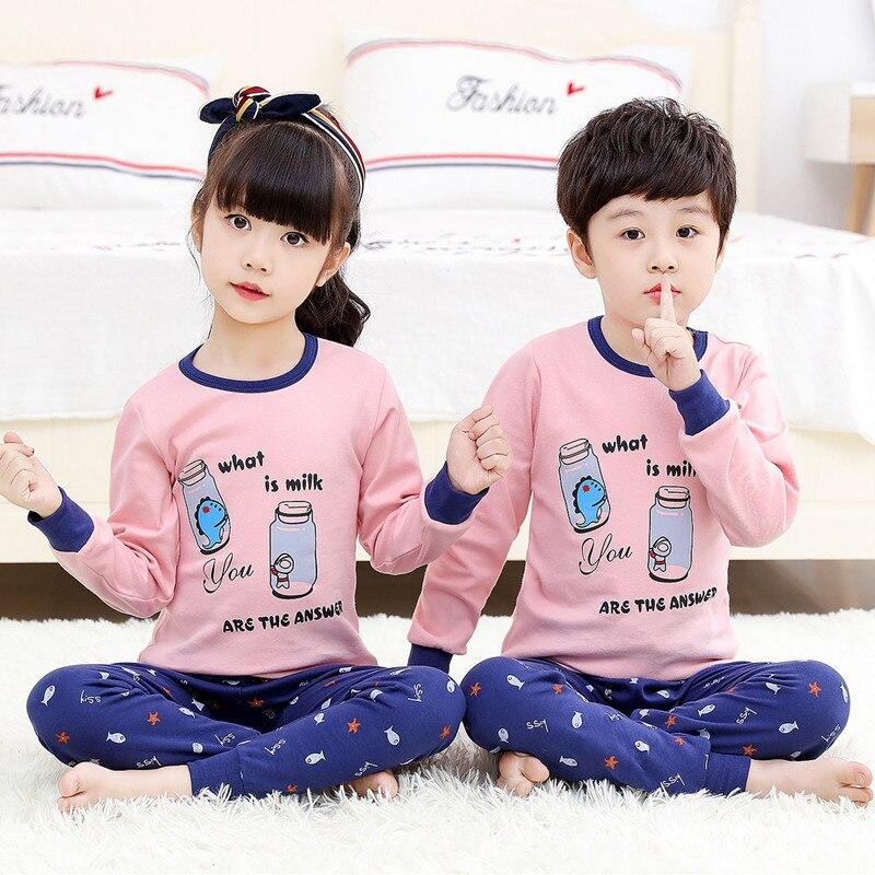 raposa pijamas algodão crianças manga longa pijamas
