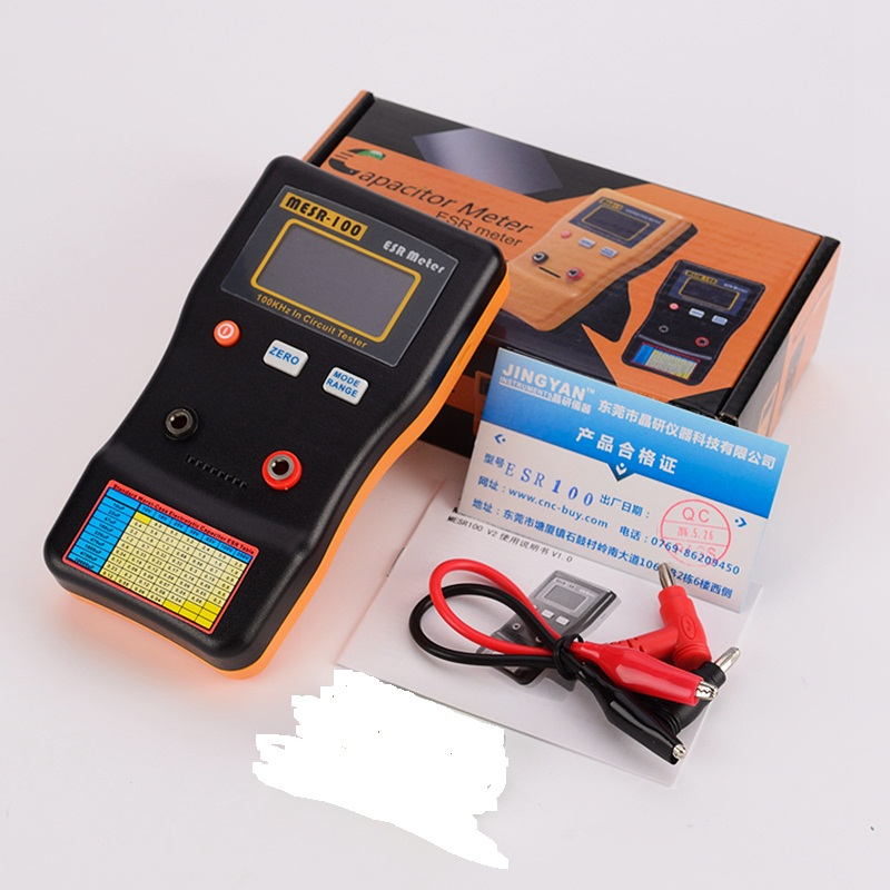 In Circuit AutoRange Capacitor ESR Low Ohm Meter 0.001 to 100.0R Accuracy Online Digital Capacitance Resistance Capacitor Tester|Multimeters| |  - title=