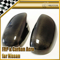 High Quality New 2PCS For NISSAN 200SX 240SX S14 S14A Silvia Carbon Fiber Side Mirror Cover Car Accessories Car Styling