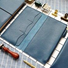 Дорожная сумка из кожи с лицевой текстурой fromthнан, сумка для карт, сумка для хранения для путешественника Midori, винтажные аксессуары в стиле ретро