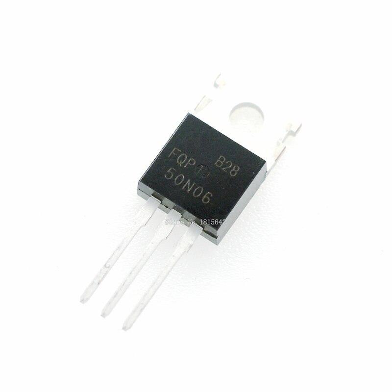 10PCS/LOT FQP50N06 50N06 MOSFET TO-220 N-CH 60V 50A New Original Triode